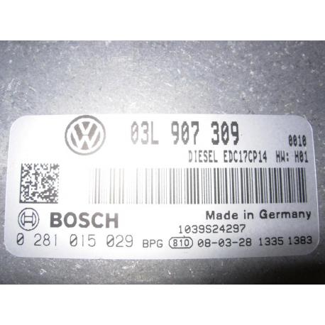 Блок управления двигателем VW Passat  03L907309 0281015029