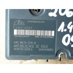 Гидроблок АБС в сборе Peugeot 206 1.4 9659136980 10.0970-1128.3 10.0207-0130.4