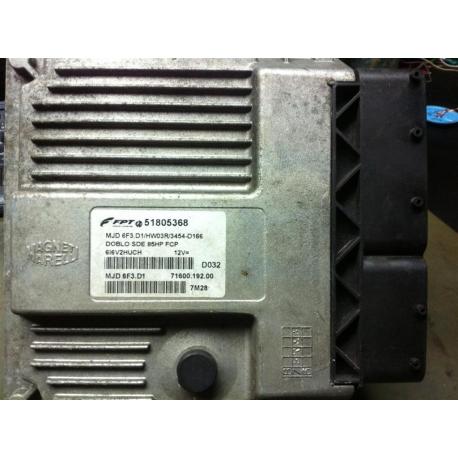 Блок управления двигателем Fiat Doblo 1.3 85HP 51805368 MJD6F3.D1