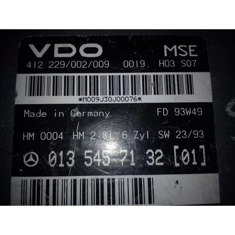 Блок управления двигателем эбу Mercedes w124 0135457132