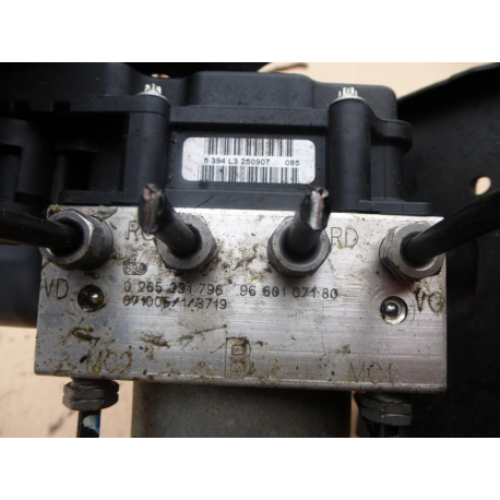 Гидроблок АБС в сборе с блоком управления ABS Peugeot 308 Citroen C4 0265800555 9663575580
