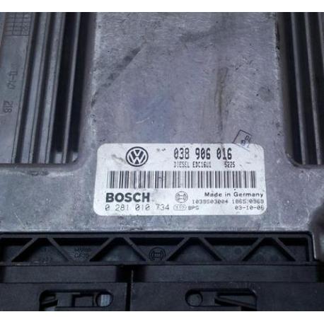 Блок управления двигателем VW T5 1.9 0281010734  038906016