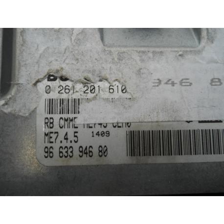 Блок управления двигателем PEUGEOT 307 1.6 16V 0261201610