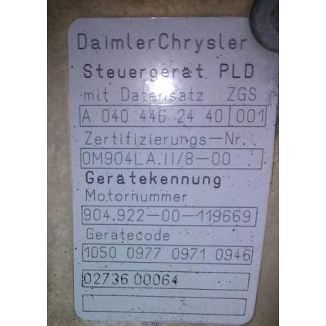 Блок управления двигателем Mercedes Atego  Actros Axor 0004462440  OM904 LA II