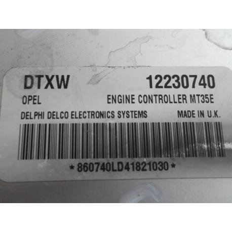 Блок управления двигателем Opel Astra 1.6 12230740 Комплект