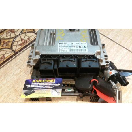 Блок управления двигателем комплект Peugeot 207 307 1.4 1.6 0261S04008