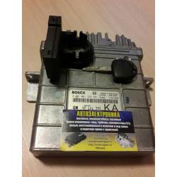 Комплект ЭБУ + иммо + ключ Opel Vectra B 2.0 DI 16V X20DTL BOSCH 0281001335 GM 90464735