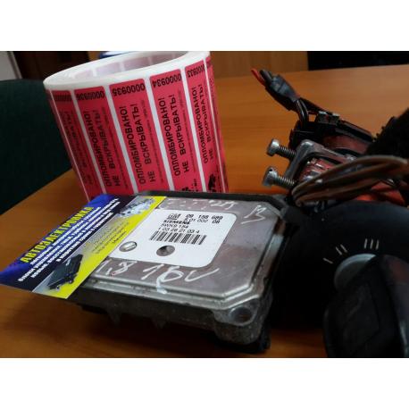 Комплект иммо + чип-ключ + ЭБУ GM 09158689 S0100204 5WK154 1012200270 Opel Vectra B