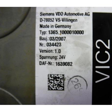 Блок управления DAF VIC2 VIC 2 1639082 Version 1.0